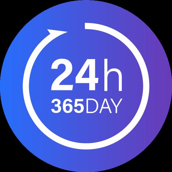 24h/365day稼働可能